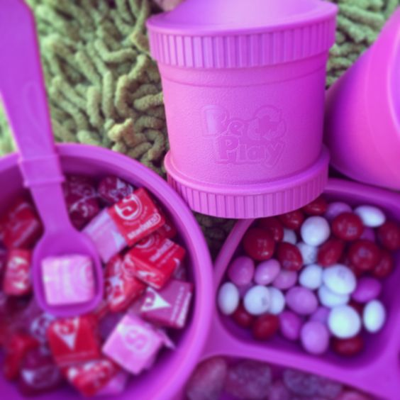 Re-Play Recycle - Brigh Pink Set - have fun with any theme .... Re-Play Recycled - Catch up on my latest Mommy Break Feature blog post on this amazing product and company!  Don't miss out on all of the COLORFUL and durable details.