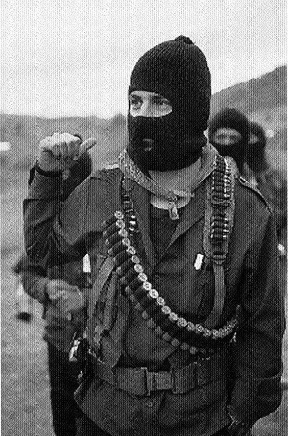 Marcos en la selva Lacandona, Chiapas 1994 - foto por Heriberto Rodriguez