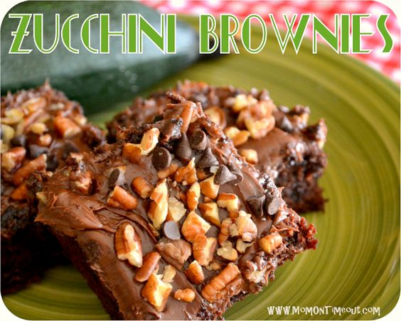 Amazing Zucchini Brownies - yes, brownies with zucchini can be healthy!  :)  from momontimeout.com