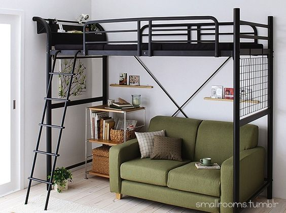 small #room for a #boy with #industrial bed