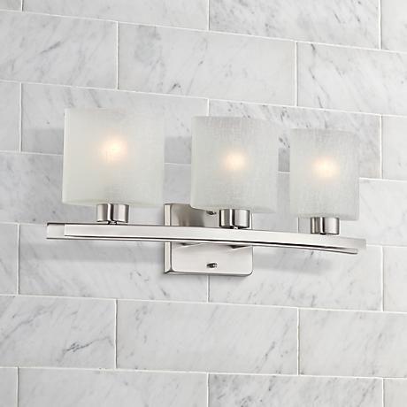 """Possini Euro Design Linen Glass 23 1/2""""-W Bath Wall Fixture"""