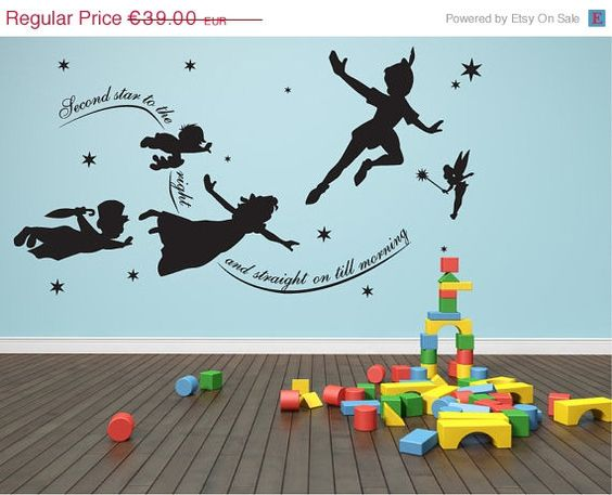 JANUARY SALE 15% OFF Peter pan second star to the by Quirkyworks33