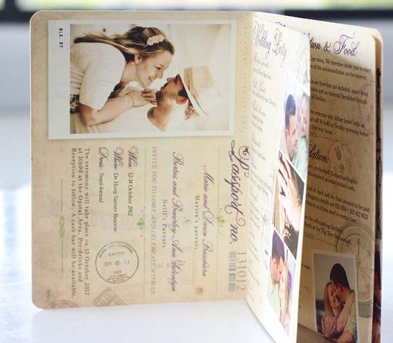 Wedding Invitations   Wedding Stationery   South Africa   Secret Diary   Passport invitation – Marisa and Neill