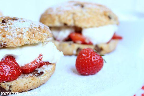 Rezepte mit Herz   ♥: Erdbeer - Kokos - Burger ♡