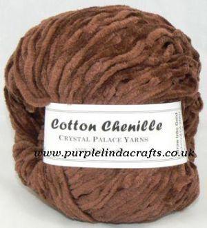 Crystal Palace Cotton Chenille Yarn 3506 TRUFFLE Brown HALF PRICE