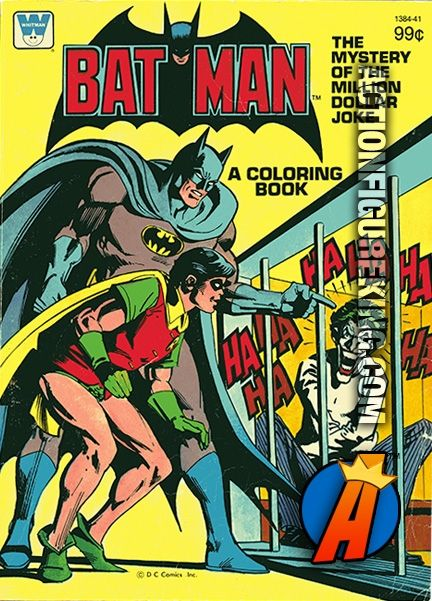 Vintage 70 Page Batman The Mystery Of The Million Dollar Joke Coloring Book See Batman And