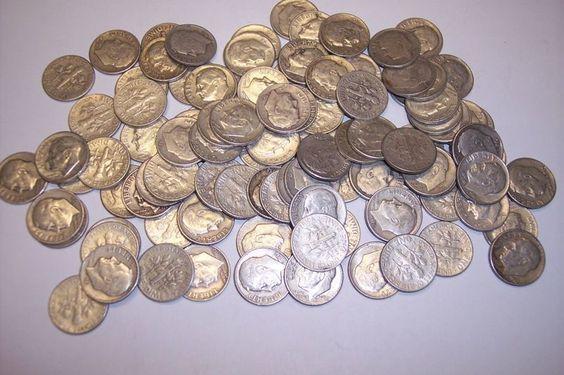 5 Roosevelt Dimes 90% Silver! (Random Dates 1946-1964) Lot 5