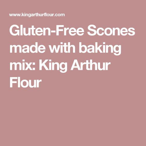 Gluten-Free Scones made with baking mix: King Arthur Flour