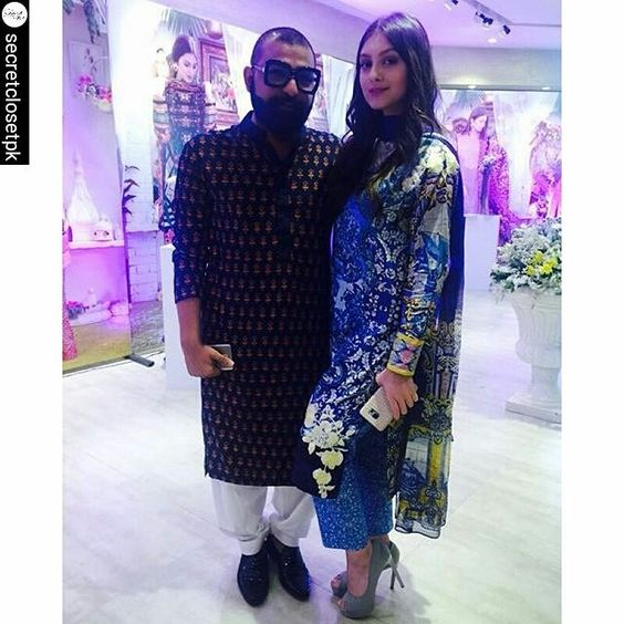 #EzRepost @secretclosetpk with @ezrepostapp  #AliXeeshan with the beautiful #NehaRajput at the #AliXeeshan #Warda launch ✨👏 #happeningnow 😍 @alixeeshantheaterstudio