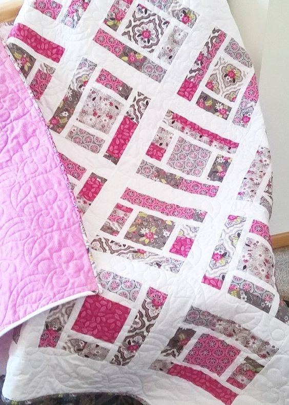 PDF baby quilt PATTERN or Lap Quilt.... Layer Cake por sweetjane Quilts Pinterest Girls ...