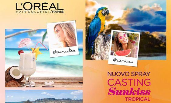 L'Oreal Casting Sunkiss Tropical, spray schiarente capelli - http://www.beautydea.it/loreal-casting-sunkiss-tropical-spray-schiarente-capelli/ - Come avere capelli più chiari? Con il nuovo spray schiarente per capelli L'Oreal Casting Sunkiss Tropical per un look da spiaggia tutto l'anno!