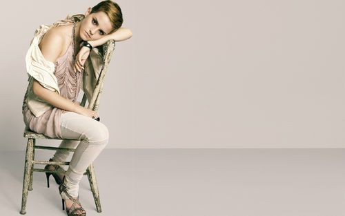 Emma Watson on a chair picture