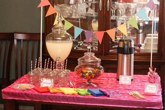Drink station at this Candyland party - #kidsparty