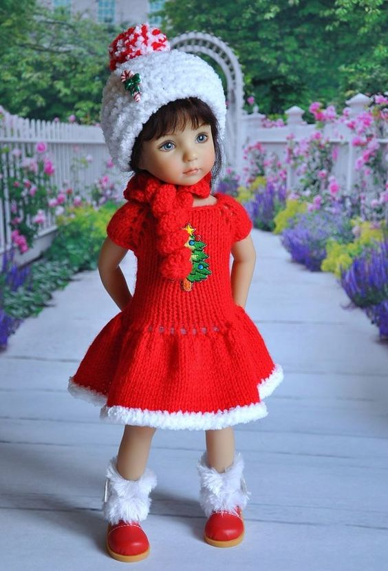 "OOAK OUTFIT FOR DOLLS Little Darlings Effner 13"" ""The holiday comes to us!"":"