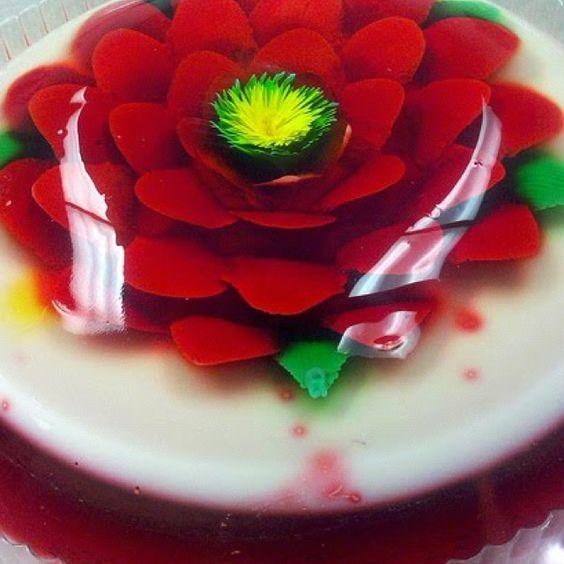 Encapsulated jello art/Artistic Jello ❤