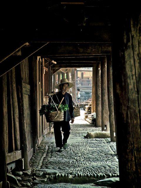 Life in Zhaoxing. Guizhou, China; villager by Tariq Sawyer, via Flickr