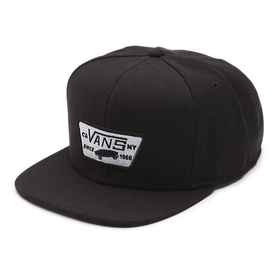 Full Patch Snapback Hat (84 BRL) ❤ liked on Polyvore featuring men's fashion, men's accessories, men's hats, hats, mens clothes, vans, true black, mens snapback hats, mens snapbacks and mens hats