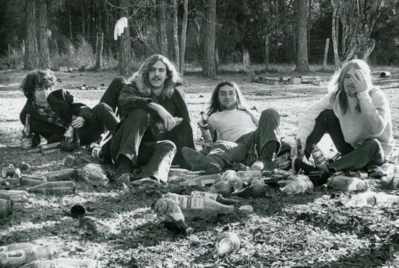 The morning after a Mudcrutch Farm Festival, circa 1971. Oh, to have been there!!