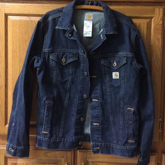 Original Carhartt Jean jacket Women's Medium Carhartt jean Jacket- worn maybe two times by my daughter Carhartt Jackets & Coats Jean Jackets