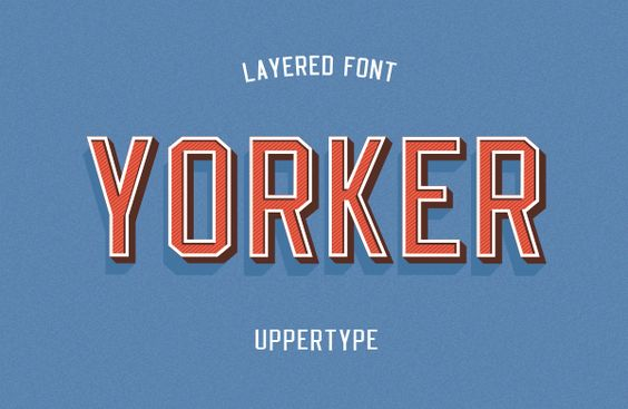 Yorker font on Behance