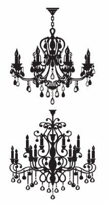 Two Vintage Chandeliers Home Decorative Wall Sticker Decals:Amazon:Home & Kitchen
