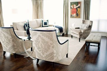 Marina Del Ray - contemporary - living room - toronto - Elizabeth Metcalfe Interiors & Design Inc.