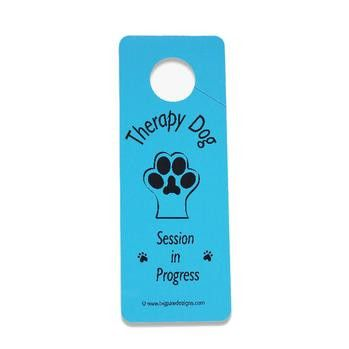 Therapy Dog Session Door Hanger - Blue