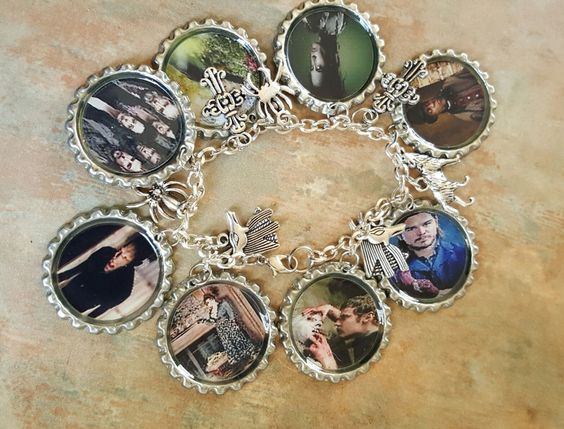 Penny Dreadful Fans Bottle Cap Charm Bracelet by WolfMountainJewelry on Etsy  25.00
