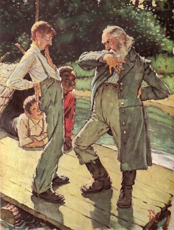 Norman Rockwell's Rare Illustrations for The Adventures of Huckleberry Finn: