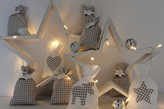 *****Adventskalender +2 Holzsterne***** von herzallerliebst auf DaWanda.com
