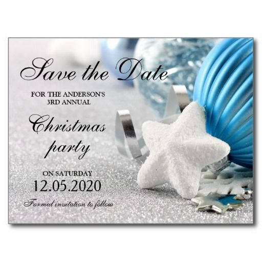 Winter And Holiday Party Save The Date Postcard