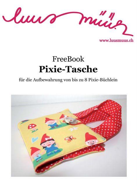 pixie tasche freebook pixibuch tasche n hen. Black Bedroom Furniture Sets. Home Design Ideas