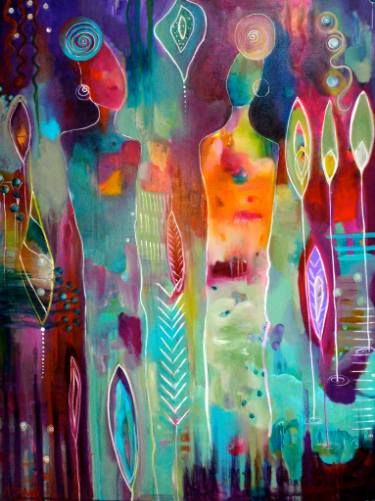 """Saatchi Art Artist Monica Zunino-Mel Paintings; Painting, """"SURROUNDED BY RAIN CLOUDS"""" #art"""
