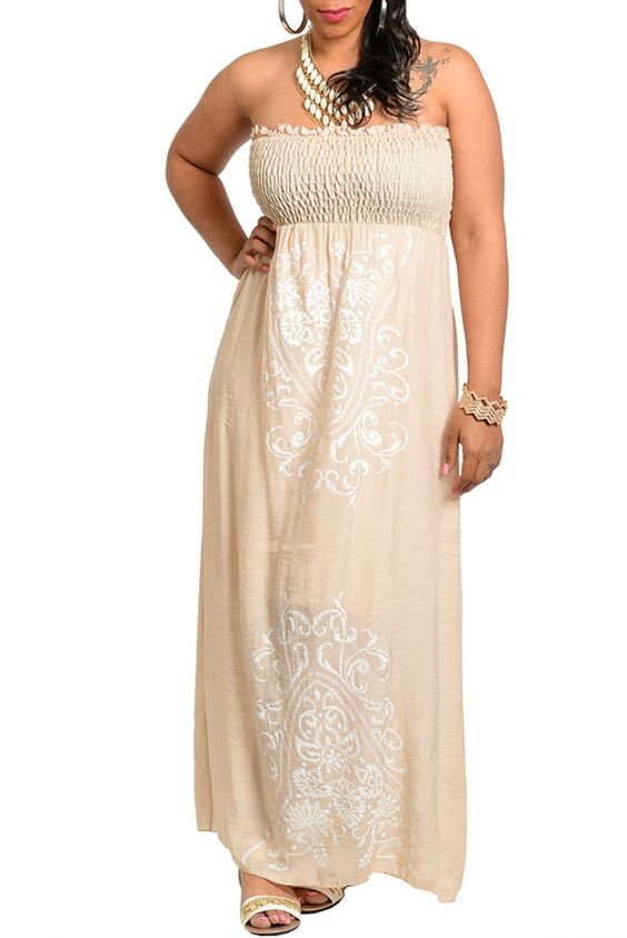 DHStyles Women's Taupe Plus Size Sexy Strapless Floor Length Floral Paisley Summer Dress #sexytops #clubclothes #sexydresses #fashionablesexydress #sexyshirts #sexyclothes #cocktaildresses #clubwear #cheapsexydresses #clubdresses #cheaptops #partytops #partydress #haltertops #cocktaildresses #partydresses #minidress #nightclubclothes #hotfashion #juniorsclothing #cocktaildress #glamclothing #sexytop #womensclothes #clubbingclothes #juniorsclothes #juniorclothes #trendyclothing #minidresses…