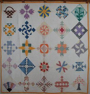 Quilts-Vintage and Antique: Ruby McKim 1930 Patchwork Sampler Quilt
