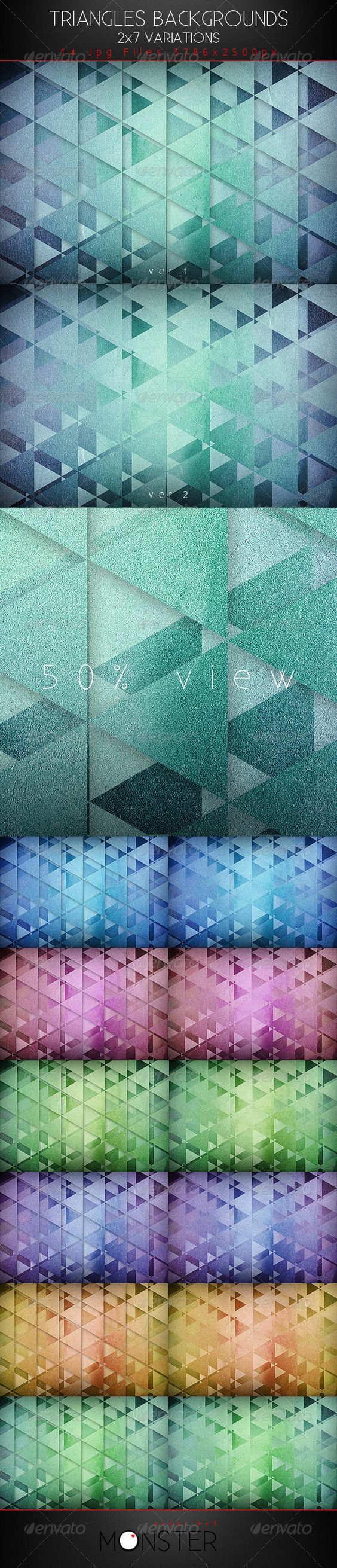 Triangles Backgrounds  #GraphicRiver