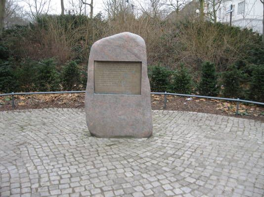 Gedenkstein für die Vertreibung der polnischen Juden aus Altona 1938