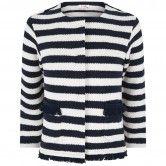 Il Gufo Girls Navy & Ivory Striped Jacket