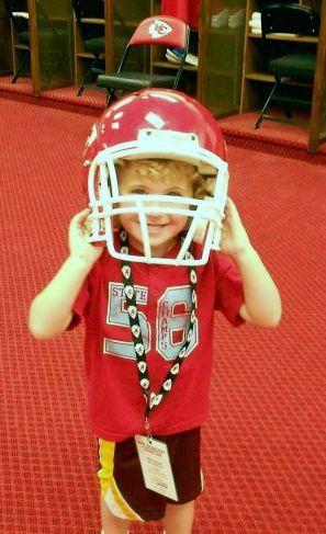 my great nephew in CHIEFS locker room