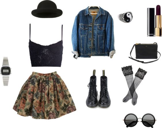 """""""summer nights"""" by go-to-hell-for-heavens-sake ❤ liked on Polyvore"""