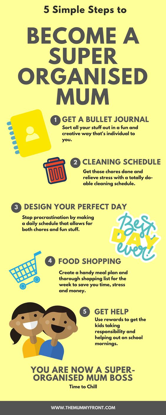 lazy mum organisation hacks, ways to be organised, organisation, organisation tips, infographic, super organised