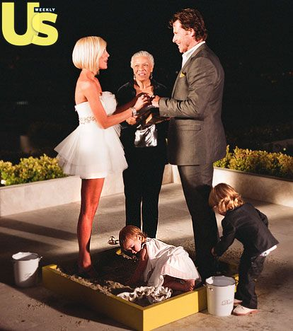 "Tori Spelling and Dean McDermott Vow Renewal.  The couple renewed their vows in front of their kids, Liam and Stella. ""This is a rebirth,"" Spelling told Us. ""We've gone through our ups and downs, but we wouldn't have changed a moment of it."" The pair eloped to Fiji in 2006."