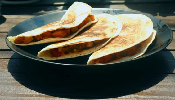 Vegetable and Bean Quesadillas