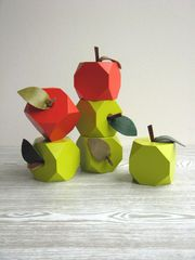 """Lo-res"" apple handmade decoration, £12.50, Loglike"