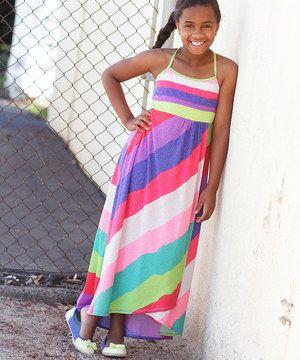 Look at this #zulilyfind! Red Hi-Low Maxi Dress - Girls by Freckles + Kitty #zulilyfinds
