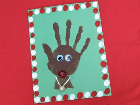Christmas crafts reindeer and crafts on pinterest for Reindeer christmas card craft