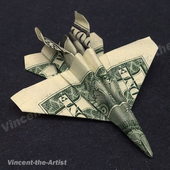 Money Origami JET FIGHTER F-18 Airplane Dollar Bill Mothers Love Jewelry Deals Marco Bicego Citrine Ring http://marcobicegoring.gr8.com Jewelry Deals http://jewelrydeals.gr8.com: