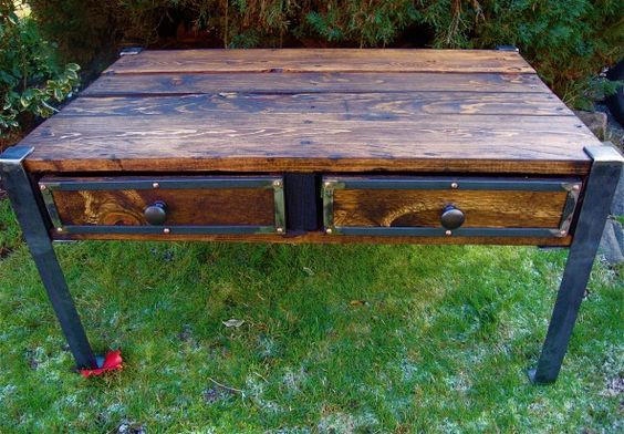 Coffee Table with Storage Shelves | 22nd Design + Build