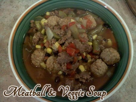Meatball and Veggie Soup Crockpot Recipe!