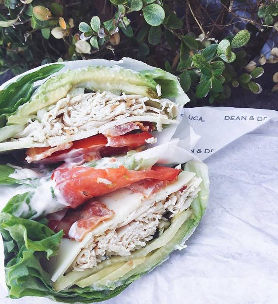 against all grain - lettuce wrapped deli sandwich